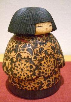 "Rakuten creative Kokeshi wooden base doll dolls Yuji Watanabe work ""chick 6"" (bronc chick): of folk art and crafts shop Shimanuki"