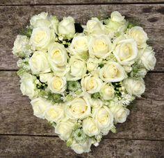 Hart #rouwbloemen BLOM BLoemwerk Op Maat