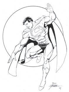 Superman by George Perez Superman Comic Books, Superman 1, Superman Family, Superman Man Of Steel, Comic Book Heroes, Comic Books Art, Superman Stuff, Book Art, Action Comics 1