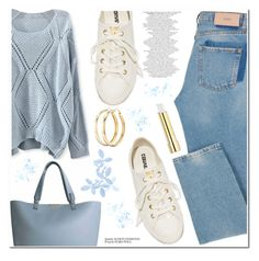 """Sem título #683"" by soleuza ❤ liked on Polyvore featuring Converse, Charlotte Russe and Stila"