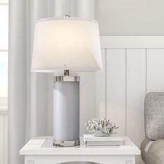 "Chaplin Bay Leather Column 26"" Table Lamp"