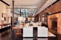 coastal industrial meets rustic interior design | Elegant and Classic Loft In The Heart of Tribeca