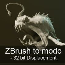 Tutorial: ZBrush to modo – 32 bit Displacement  #zbrush #modo #displacement