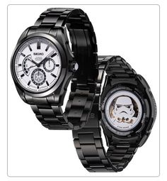 Classy Star Wars watches - subtle empire logo on the outside, bad ass Stormtrooper on the inside! (Click through to see the entire collection!)
