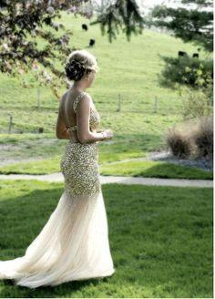 Gold prom dress