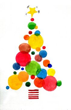 Best Indoor Garden Ideas for 2020 - Modern Christmas Card Crafts, Christmas Art, Christmas Projects, Holiday Crafts, Christmas Decorations, Christmas Ornaments, Christmas Tree Clipart, Watercolor Christmas Tree, Christmas Drawing