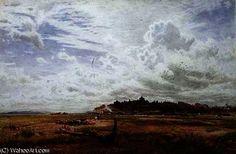 Rye, Sussex de Albert Goodwin (1845-1932, United Kingdom) Rye Sussex, Reproduction, United Kingdom, Landscapes, The Unit, Painting, Art, Paisajes, Art Background