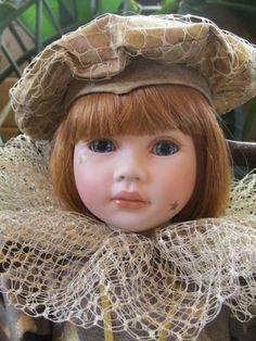 "Pauline Bjonnes Jacobsen ""Stella"" 22"" Porcelain Cloth Doll 224 950 | eBay"