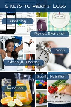 Struggling with your health & fitness goals? It's time to investigate these 6 Keys to Weight Loss. What does the science say? Find out at KeepItRealFitness.com