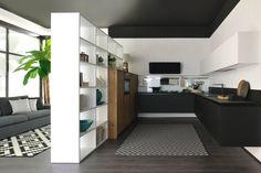 Oltre, the new kitchen concept by Cucine Lube. FENIX NTM Nero Ingo.