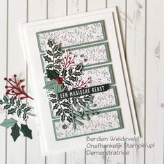 Homemade Christmas Cards, Stampin Up Christmas, Homemade Cards, Xmas Cards, Holiday Cards, Christmas Makes, Christmas Fern, Embossed Cards, Beautiful Handmade Cards