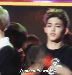 S. Coups (Seungcheol) from Seventeen in a close call with fireworks! - I just think this is hilarious (since he wasn't injured!)