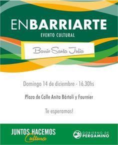 [#Cultura] Este domingo Enbarriarte llega al barrio Santa Julia > http://www.pergamino.gob.ar/este-domingo-enbarriarte-llega-al-barrio-santa-julia/