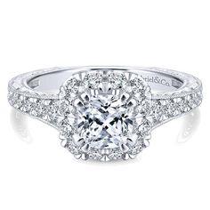 Item#: GNY-12827C4T44JJ Halo Engagement Ring Bentley Diamond Wall New Jersey