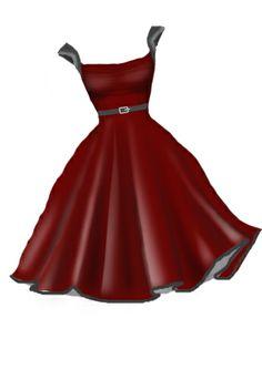 rockabilly,retro,red dress