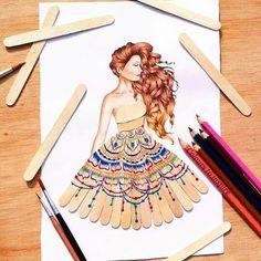 or puffy paint. Fashion Design Sketchbook, Fashion Design Drawings, Fashion Sketches, Puffy Paint, Arte Fashion, Fashion Illustration Dresses, Illustration Mode, Illustrations, Creative Artwork