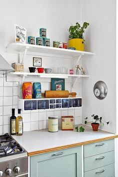Colorful kitchen: