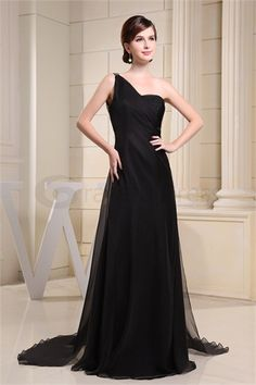 Brush/ Sweep Train One Shoulder Chiffon Silk-like Satin Formal Evening Dress http://www.GracefulDress.com/Brush-Sweep-Train-One-Shoulder-Chiffon-Silk-like-Satin-Formal-Evening-Dress-p19372.html