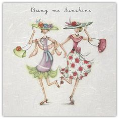 Bring Me Sunshine Female Birthday Card Berni Parker Designs