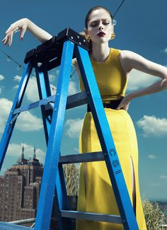 """Coco Rocha in """"Up There"""" Photographed By Yin Chao & Styled By Xiao Mu Fan For Harper's Bazaar China, September 2013"""