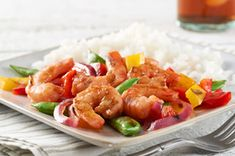 """Shrimp """"Grill-Fry"""" recipe -   One of my favorite """"healthy"""" dinners and it really is ready in 30 minutes start to finish!"""