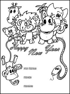 53 Best New Year Images Coloring Pages For Kids Colouring Pages