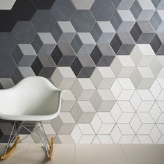 Absolute Collection — Avoir Glazed porcelain wall and floor tiles, now available for the first time as hexagons with accompanying hexagonal décor fittings. Available in six sizes, including mosaics, Avoir is a stand-out collection enhanced by its choice o Geometric Tiles, Hexagon Tiles, Hex Tile, Backsplash Tile, Geometric Patterns, 3d Tiles, Rhombus Tile, Hexagon Tile Bathroom, Cement Tiles