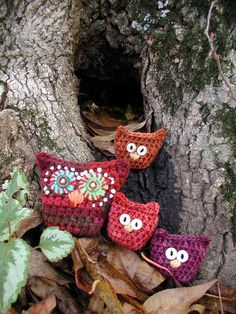 Mama and Babies by Buckster's Pics, via Flickr.  Love these little crocheted owls.
