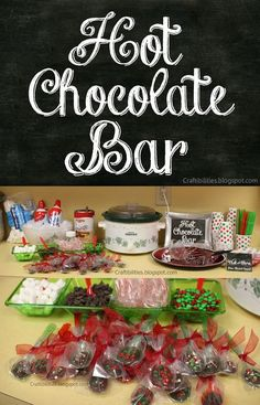 Hot chocolate bar in the teachers lounge. Chocolate spoons and goodies School Christmas Party, Office Holiday Party, Christmas Treats, Holiday Treats, Holiday Parties, Christmas Fun, Holiday Fun, Holiday Recipes, Staff Christmas Party Ideas