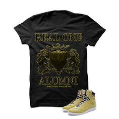 Real One Alumni (Dijon) Black T-Shirt. 100% Cotton High Quality  Description T-Shirt By SACRED SOCIETE