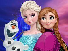 Olaf, Elsa e Anna - (Frozen).