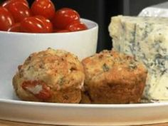 We LOVED this recipe! Heather Grubb makes a biscuit with #Gorgonzola, Maple #Bacon, Thyme, and #Tomatoes !!