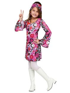 The Kids Feelin Groovy Disco Costume for Girls is the best 2019 Halloween costume for you to get! Everyone will love this Girls costume that you picked up from Wholesale Halloween Costumes! 70s Halloween Costumes, Wholesale Halloween Costumes, 70s Costume, Costume Dress, Vampire Costumes, 1960s Costumes, Costume Craze, Halloween Ball, Adult Halloween