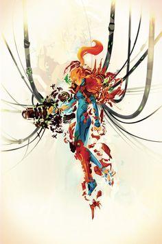 CyberWolf, Samus: Day 01 - Metroid Fan Art Created by Justin...