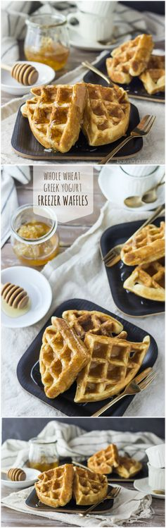 Greek Yogurt Freezer Waffles- whip up a big batch in less than an hour and have them all week long. Miles better than anything store bought!