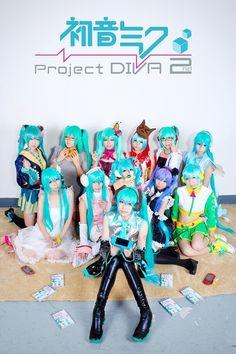 Hatsune MIku -Project DIVA- 2 Cosplay Diy, Cosplay Outfits, Best Cosplay, Cosplay Ideas, Miku Hatsune Cosplay, Hatsune Miku Project Diva, Miku Chan, Japanese Fashion, Manga Anime