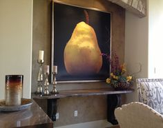 Desert Home Interior Design-Dining room- modern art