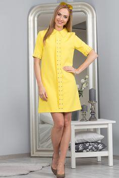 Sukienka żółta 98700