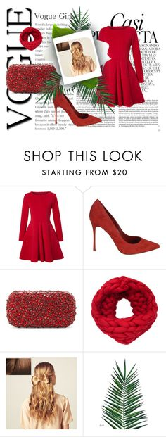 """Christmas party"" by explorer-14743076013 ❤ liked on Polyvore featuring Whiteley, WithChic, Sergio Rossi, Alice + Olivia, Hershesons and Nika"