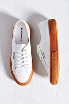 Superga 2750 Leather Gum-Sole Low-Top Sneaker