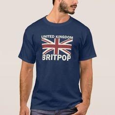 United Kingdom Flag Britpop T-Shirt - vintage gifts retro ideas cyo