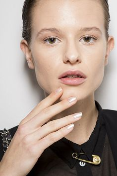 The metallic nail trend will never end, and this pearlescent polish at Laura Biagiotti is the perfect way to make it work for Spring.