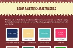 A Designer's Cheat Sheet for Marsala Infographic