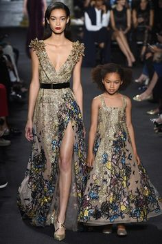 Elie Saab who once designed for Beyonce here at his  Autumn/Winter 2016 Couture Collection's show.