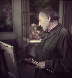 1949 Marc Chagall in his Studio | Flickr - Photo Sharing!