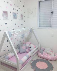 Little Girl Bedrooms, Cool Kids Bedrooms, Kids Bedroom Designs, Baby Room Design, Home Room Design, Girls Bedroom, Paris Room Decor, Baby Room Decor, Toddler Rooms