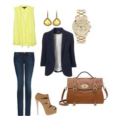 Yellow topped off with a boy-friend blazer