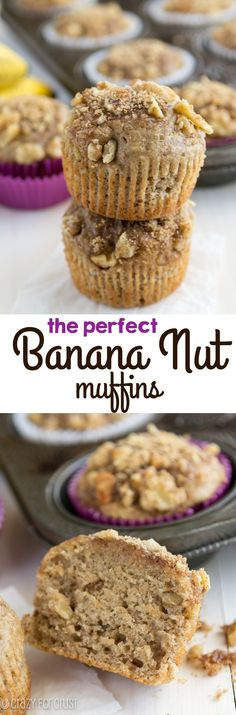 My favorite Banana Nut Muffin recipe of all time! Totally easy and foolproof and adapted from my mom's banana bread recipe, so you know they're good!