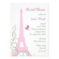Love Birds Bridal Shower Personalized Announcement