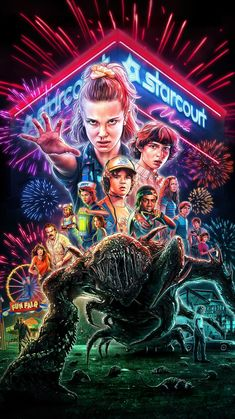 Official Stranger Things poster for this season has been released. Show airs on Netflix July Stranger Things Netflix, Poster Stranger Things, Stranger Things Tumblr, Stranger Things Aesthetic, Stranger Things Season 3, Eleven Stranger Things, Starnger Things, Fandom, Red Wallpaper